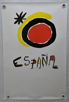 """Vintage 1980s Spain Travel Poster """"Everything Under the Sun"""" Joan Miro 24 x 37"""