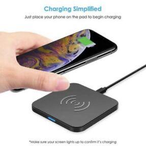 CHOETECH Wireless Charger, 10W Max Qi-Certified Fast Wireless Charging Pad U.S.