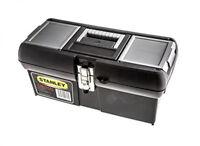 Stanley 16Inch Metal Tool Storage Box Robust Waterproof Chest Organiser Toolbox