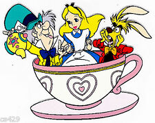 "6"" Disney alice in wonderland teacup wall safe sticker border cut out character"
