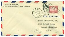 1930 PANAM FLIGHT COVER AAMC FAM 5-44 MIAMI TO CANAL ZONE LINDBERGH #70, LINDY