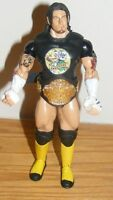 "2004 WWE CM Punk ""Straight Edge Hardcore"" Wrestling Action Figure wearing Belt"