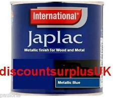 International - JAPLAC Metallic Blue - WOOD & METAL PAINT 250ml Tin **NEW**