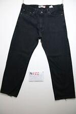 Levi's 505 straight fit nero (Cod.N422) Tg.52 W38 L30 jeans usato boyfriend
