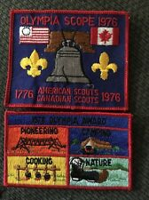 1976 Olympia Scope 2 Piece Boy Scout Patch Cradle of Liberty Council