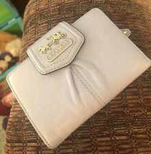 Coach Conflower Madison Leather Medium Wallet Purse Lilac Orchid EUC