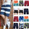 Mens Quickly Dry Summer Swim Trunks Surf Swimwear Print Beachshorts Board Shorts