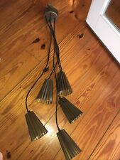 5 Cluster Pendant Light Industrial Copper Shade
