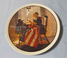 """Norman Rockwell A Mother's Pride 8.5"""" Fine China Knowles Collector Plate"""