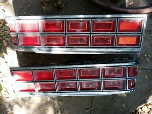 Pontiac Parisienne Left Right Driver Passenger Tail Light Pair 85 LH RH pair