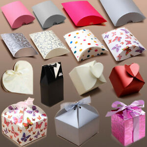 GIFT BOX CASE PILLOW PACK Packaging Birthday Christmas Wedding Party Favour Wrap