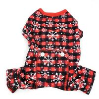 Simply Wag Size S Pet Puppy Dog Christmas Long John Jumpsuit