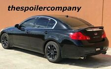 UN-PAINTED REAR SPOILER W/3RD LIGHT FOR 2007-2013 INFINITI G35/G37 4 DOOR SEDAN