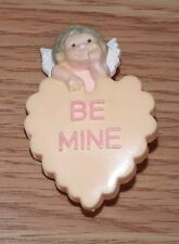 "Vintage 2"" Inch ""Be Mine"" Plastic Collectible Cupid Valentine's Day Pin *Read*"
