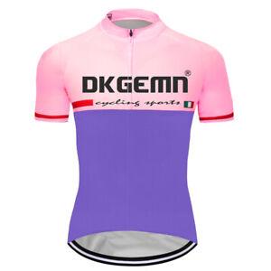 Team Cycling Jersey Clothing Mens Short Sleeve Full Zip Bike Shirt Tops Maillots