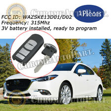Wazske13d01d02 315mhz Keyless Remote Key Fob Replacement For 2014 2018 Mazda 3 Fits Mazda