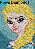 DIY Disney Princess Ice Queen Elsa Frozen Make a Latch Hook Rug Unique Gift UK