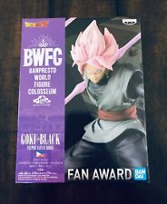 NEW Banpresto 2019 Goku Black Super Sayian Rose World Figure Colosseum Statue