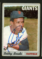 Bobby Bonds #425 signed autograph auto 1970 Topps Baseball Trading Card