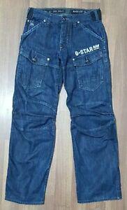 G Star Raw Storm 5620 Mens Blue Loose Fit Straight Leg Denim Jeans Size W 30 L32