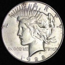 1928-S Peace Dollar CHOICE AU FREE SHIPPING E365 RNM