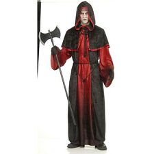 Adult Demon Robe Costume Executioner Mens Halloween Fancy Dress Outfit One Size