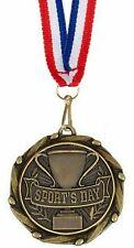 Paquet de 50 Personnalisé Sports Jour Médailles & Rubans Gravé Gratuit (G)