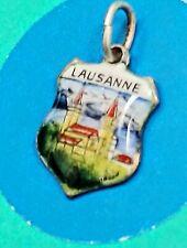 T19 Lauseanne Namel Shield Sterling Silver Vintage Bracelet Charm