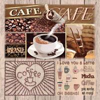 Servietten 20, Serviettentechnik  Kaffee Variationen Ambiente 33 x 33