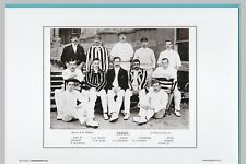 CRICKET  -  UNMOUNTED CRICKET TEAM PRINT - DERBYSHIRE - 1895