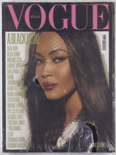 A Black Issue NAOMI CAMPBELL cover VOGUE ITALIA July 2008 SEALED 1st print ITALY