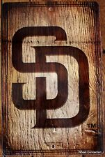 X-Large San Diego Padres Wall Sign MLB Lic Baseball Picture 11 x 17  Wood Look