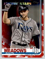 2019 Topps Series 2 AUSTIN MEADOWS Independence Day /76 Rays FS #564