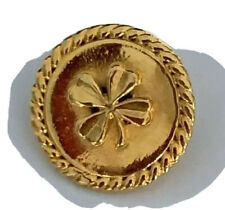 New listing 2 Authentic Chanel Vintage Four-Leaf Clover Button Circa 1980s