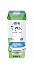 (24) Glytrol 1 Cal Tube Feeding Formula Glycemic Control Vanilla 8.45 oz 9/2021