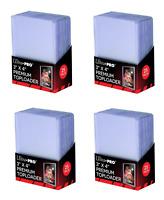 (100) Ultra-Pro Premium Topload Trading Card Holders Heavy Gauge Clear Toploader