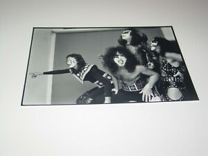 KISS 8X12 PHOTO PAUL ACE GENE PETER HOTTER THAN HELL ALBUM COVER  1974   #73