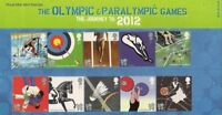 GB Presentation Pack M18 2009 OLYMPIC GAMES THE JOURNEY TO LONDON 2012
