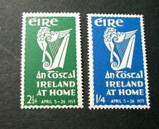 "Ireland Stamp Scott#  147-148 National Festival ""An Tostal"" 1953  MVLH  C524"