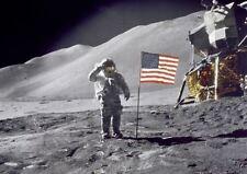 AMERICAN MOON LANDING SALUTE FLAG APOLLO 11 AMERICAN FLAG A3 PRINT POSTER YF5022