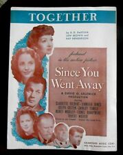 TOGETHER 1940's Sheet Music song featured in Since You Went Away motion picture