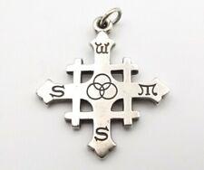 James Avery Sterling Silver Jerusalem Cross Pendant Rare Retired Holy Trinity