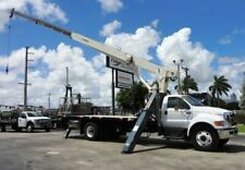 2013 Ford F750 Terex Bt3870 Crane 120Ft Boom.38K Max Lift 24134 Miles White 6.