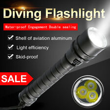 NEW Waterproof 3x T6 LED Scuba Diving Flashlight Underwater 100M Torch 18650