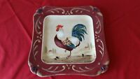 Certified International Rooster Square Serving Platter Pamela Gladding