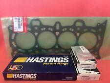 75.5mm Hastings Piston Rings + King Bearings + Honda Genuine Gasket Civic D16