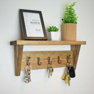 Key Holder With Shelf Storage Vintage Key Hooks Rack Shelf Gift Key Organiser