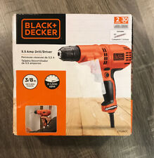 BLACK+DECKER 3/8 inch Keyless Chuck Corded Electric Drill Driver Screwdriver Bit