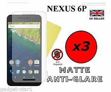 3x HQ MATTE ANTI GLARE SCREEN PROTECTOR COVER GUARD FOR HUAWEI GOOGLE NEXUS 6P