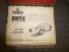 Terex Model TS14B Motor Scraper Parts Catalog Manual Book